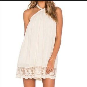 TulaRosa cream halter dress